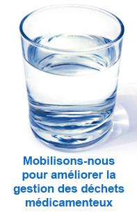 Dechets medicaments verre d eau