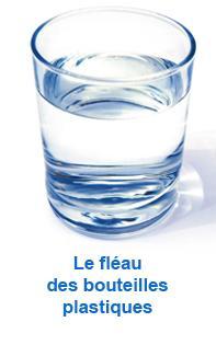 Le fleau bouteilles plast verre d eau